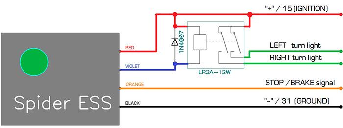 схема подключения Spider ESS