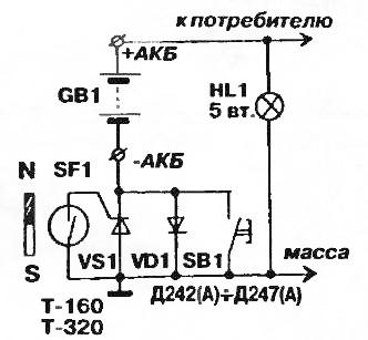 тиристорная схема подключения